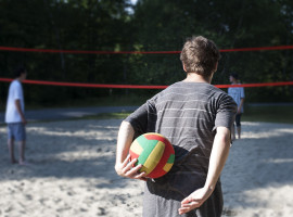 Volleyball à la plage municipale